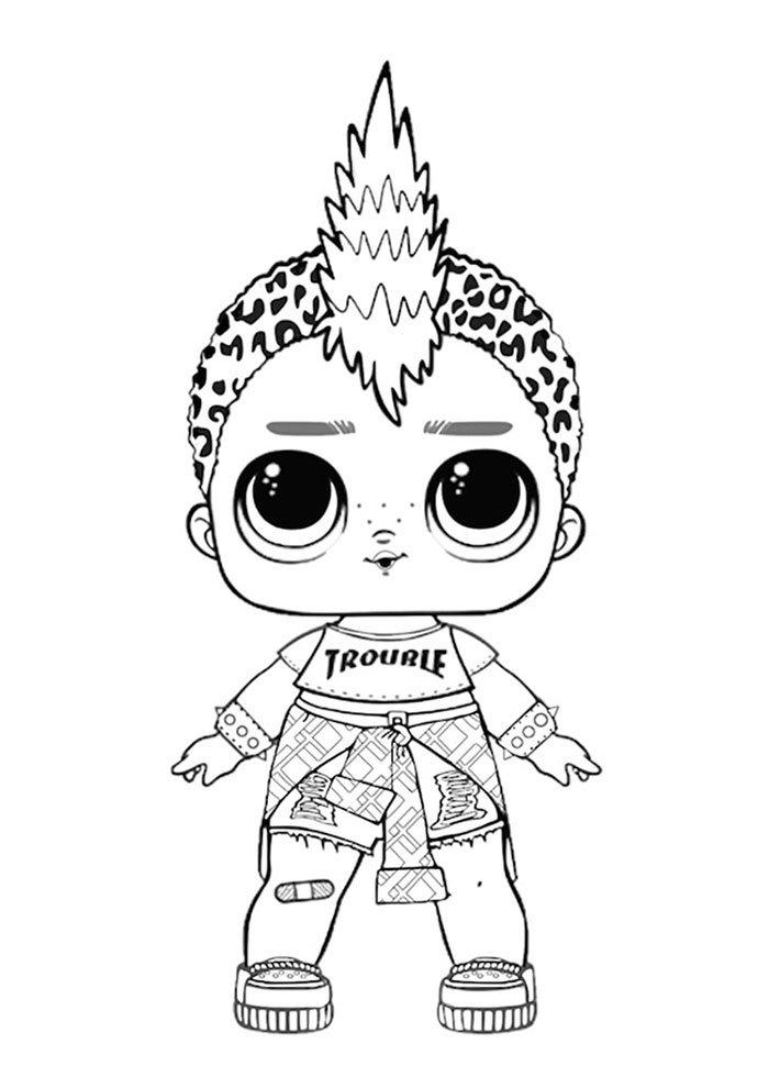lol coloring page punk boi