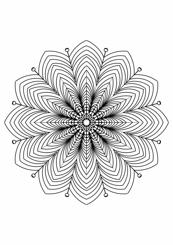 mandala coloring page 3d