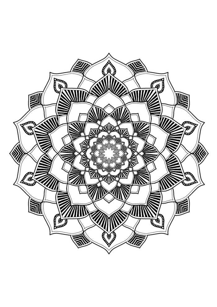 mandala coloring page advanced