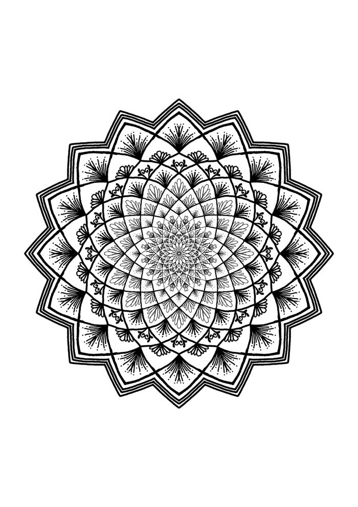 mandala coloring page african