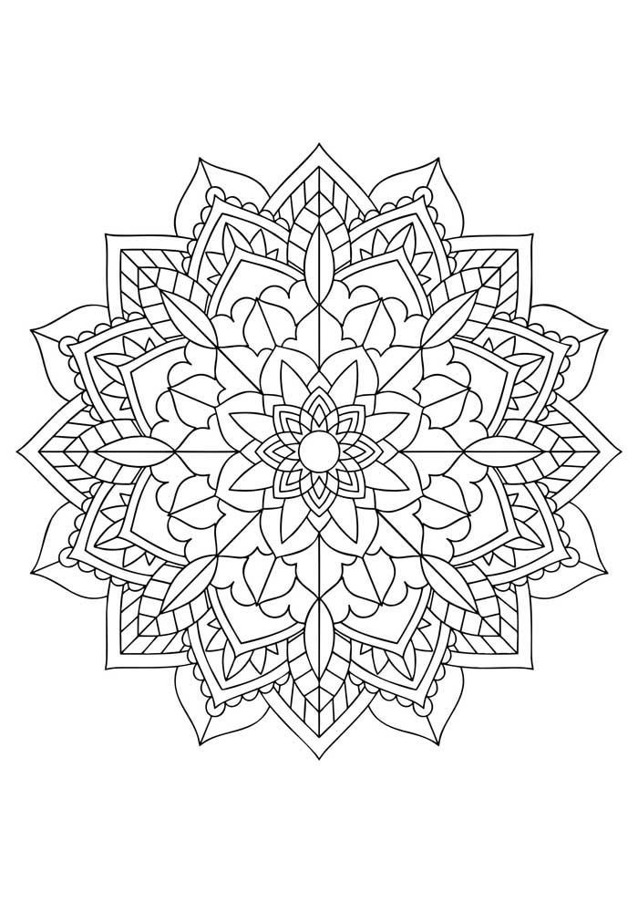 mandala coloring page beautiful geometric