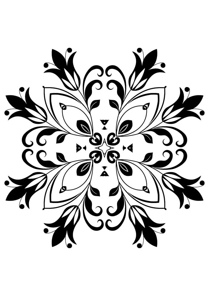 mandala coloring page butterfly