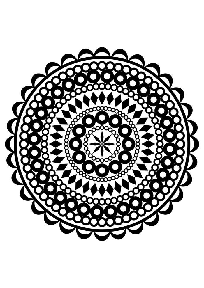 mandala coloring page circle