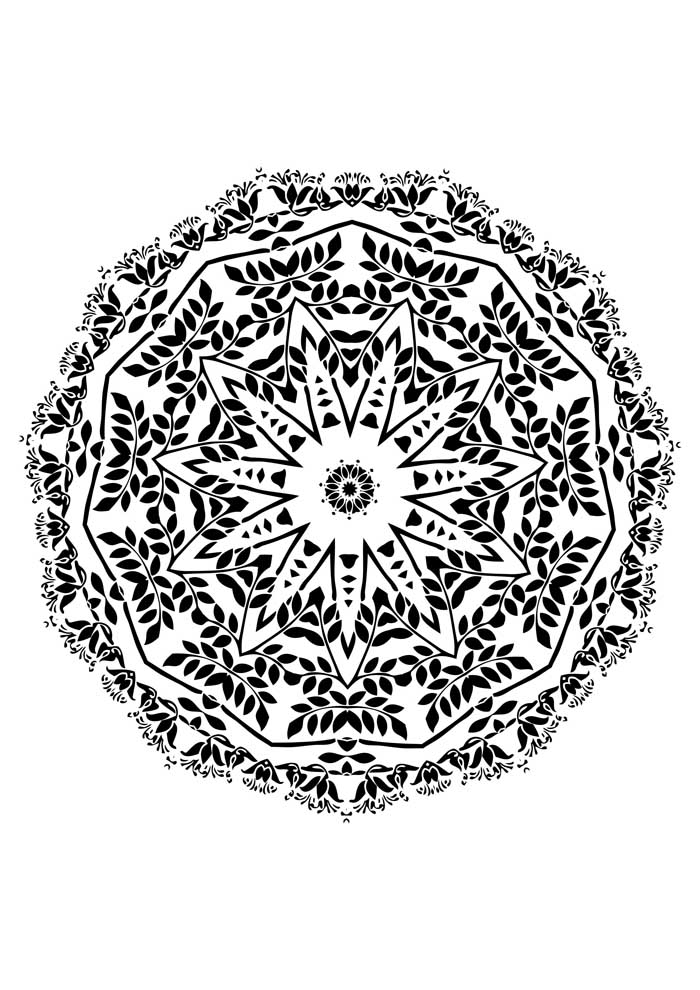 mandala coloring page difficulty