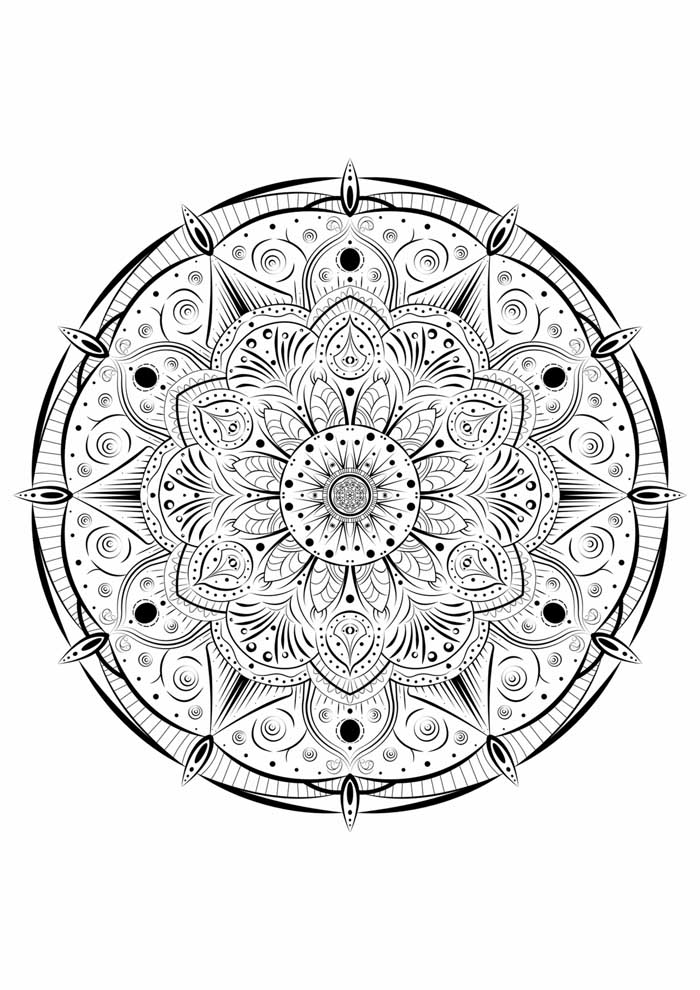 mandala coloring page easter