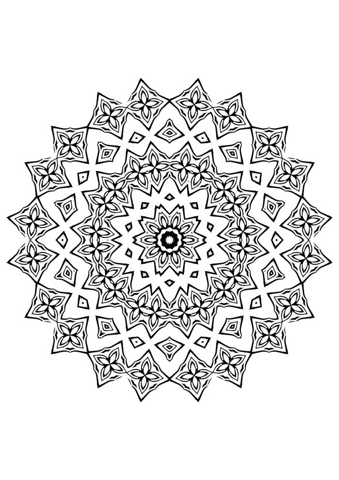 mandala coloring page easy