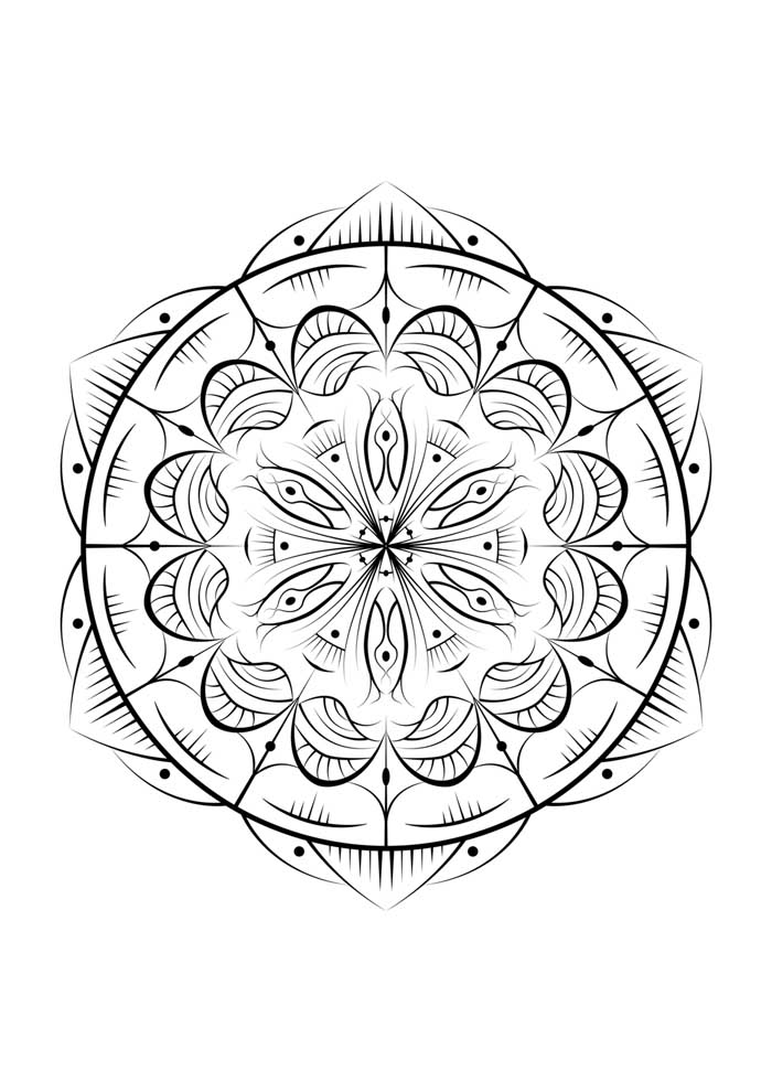 mandala coloring page eye