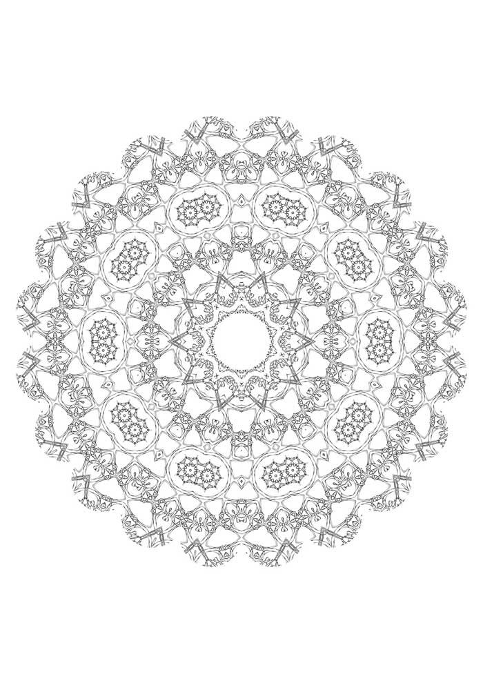 mandala coloring page free