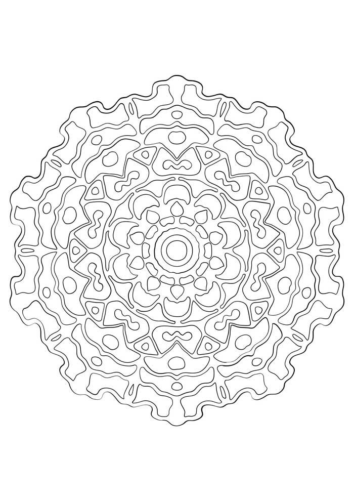 mandala coloring page geometry hard