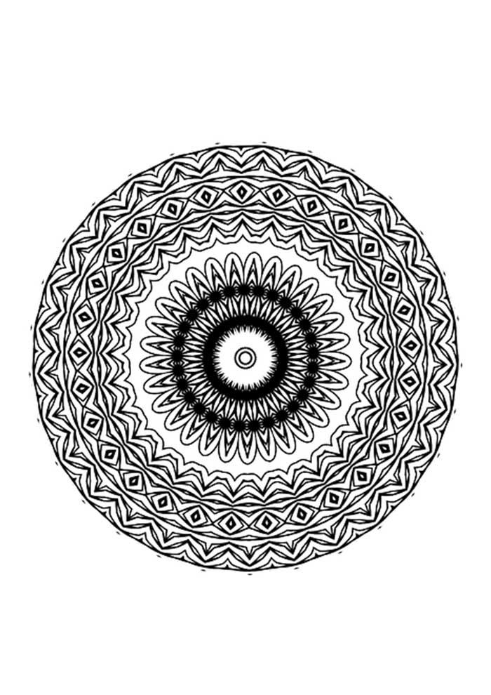 mandala coloring page greek eye
