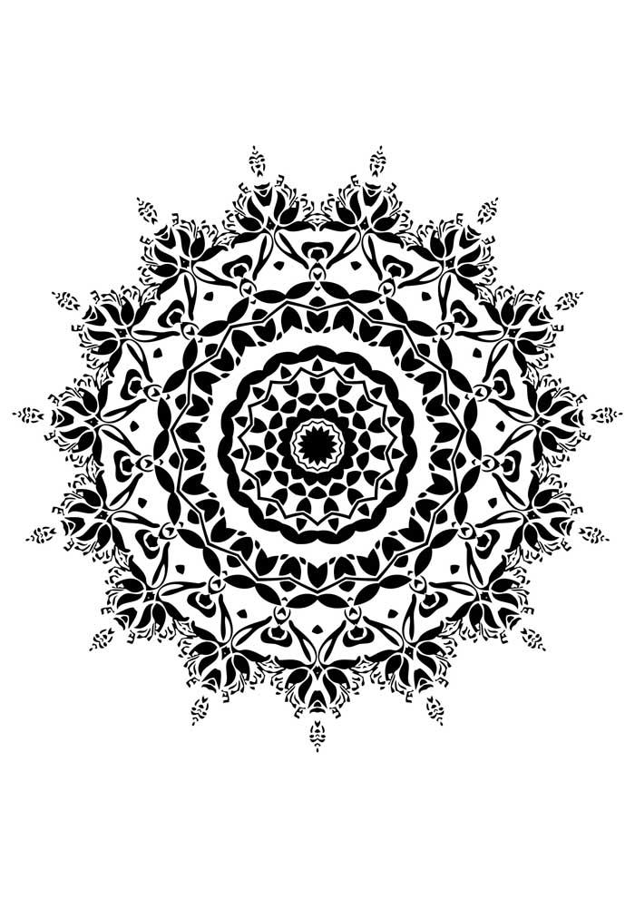mandala coloring page indian