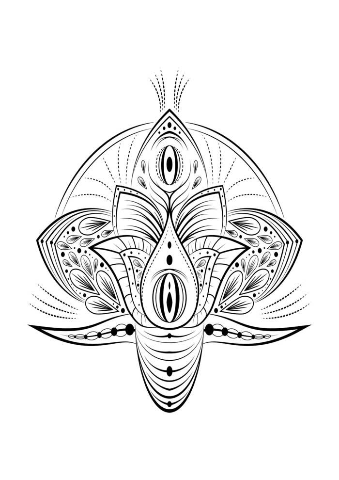 mandala coloring page lotus flower