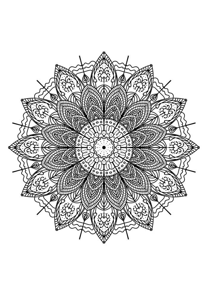 mandala coloring page love