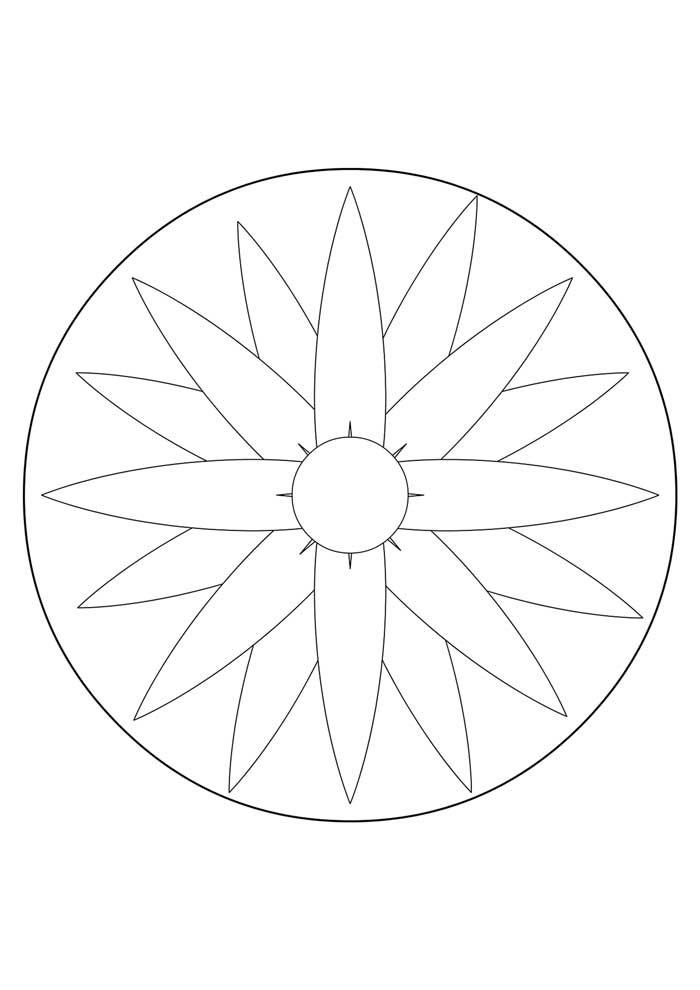 mandala coloring page meditation