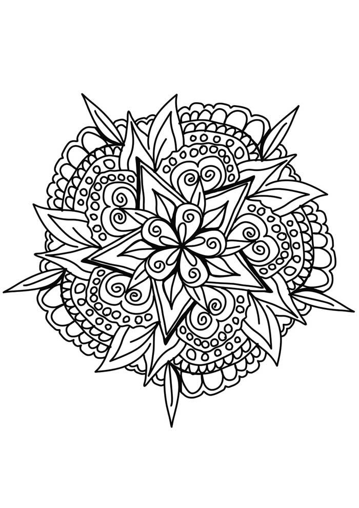 mandala coloring page peace