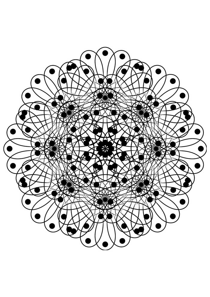 mandala coloring page picture