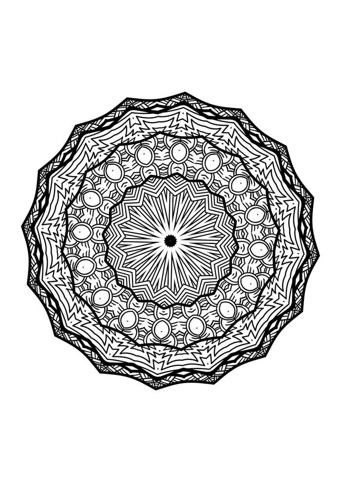 mandala coloring page print
