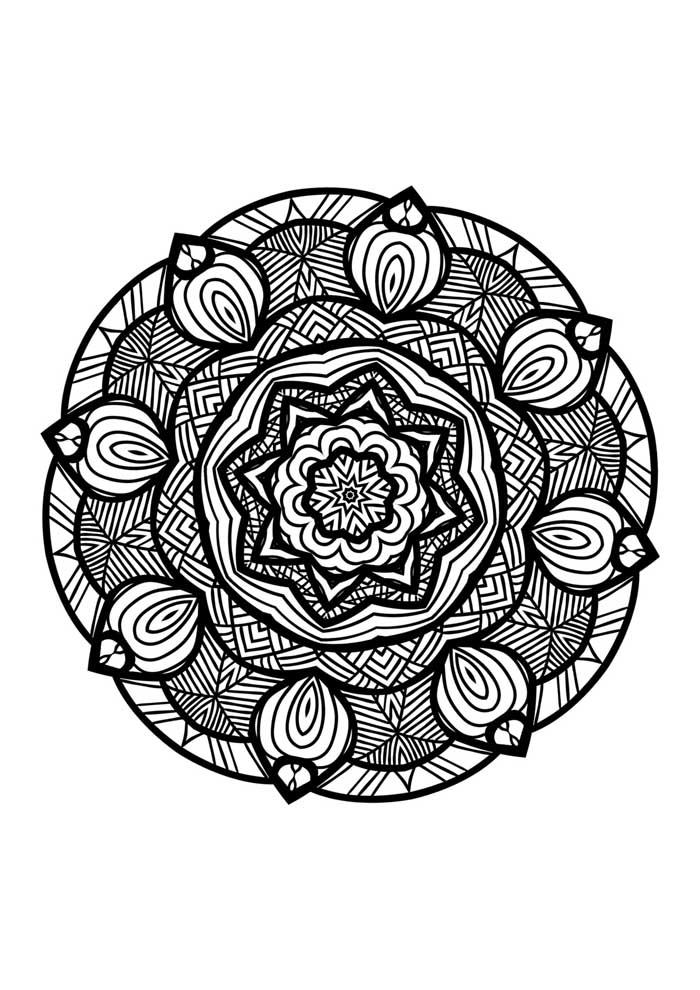 mandala coloring page printable