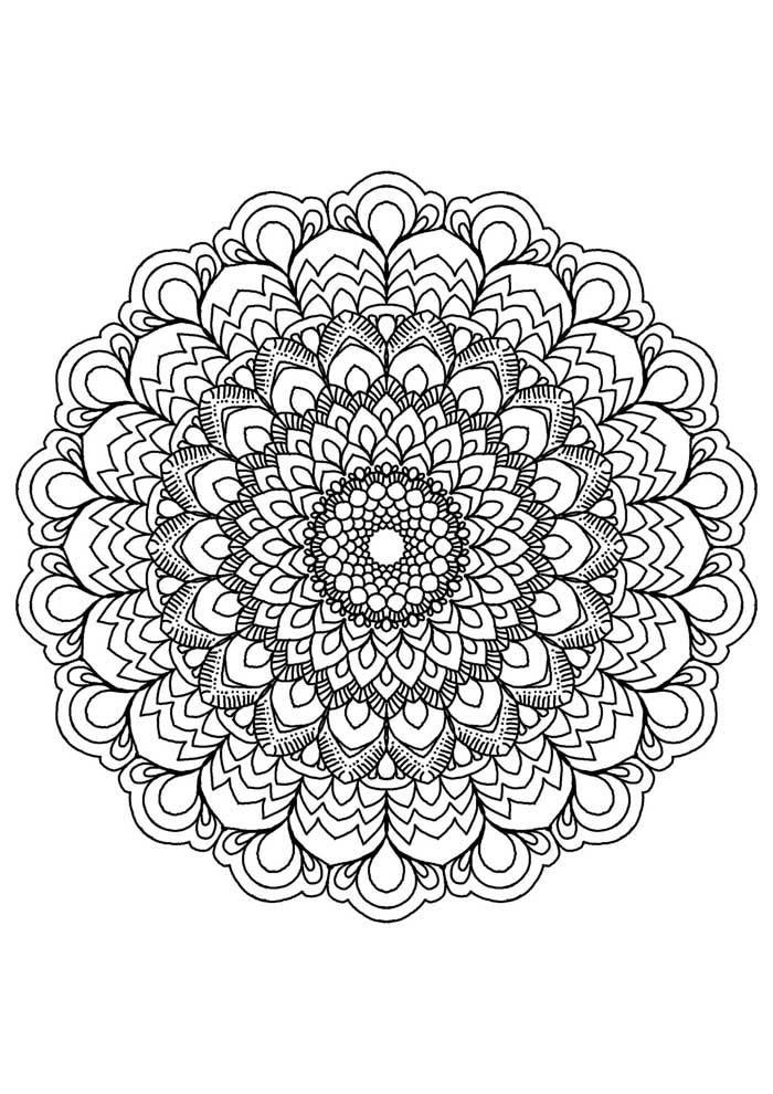 mandala coloring page prosperity