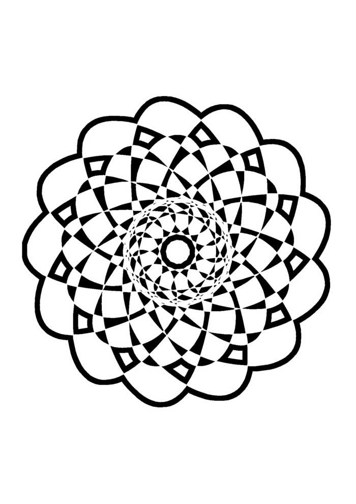 mandala coloring page shape