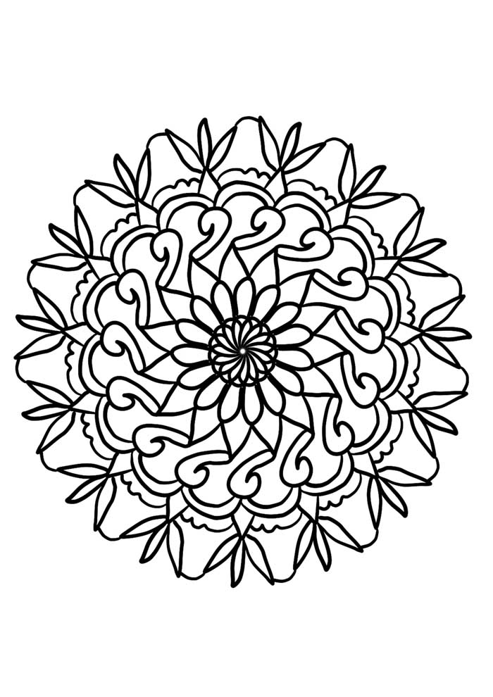 mandala coloring page simple lines