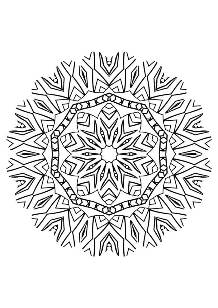 mandala coloring page simple star