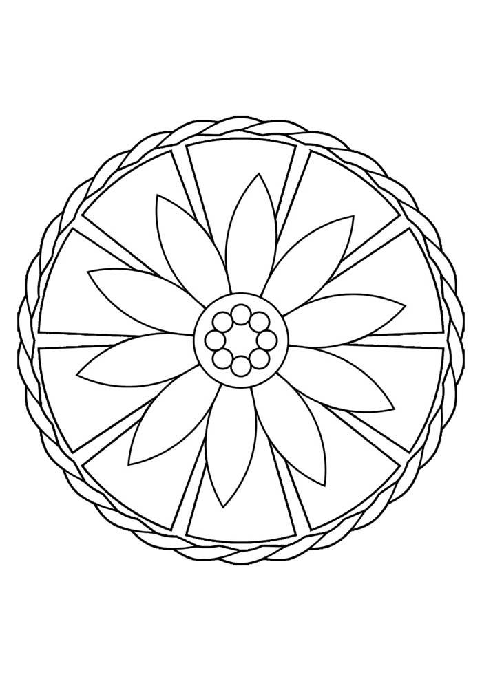 mandala coloring page simple