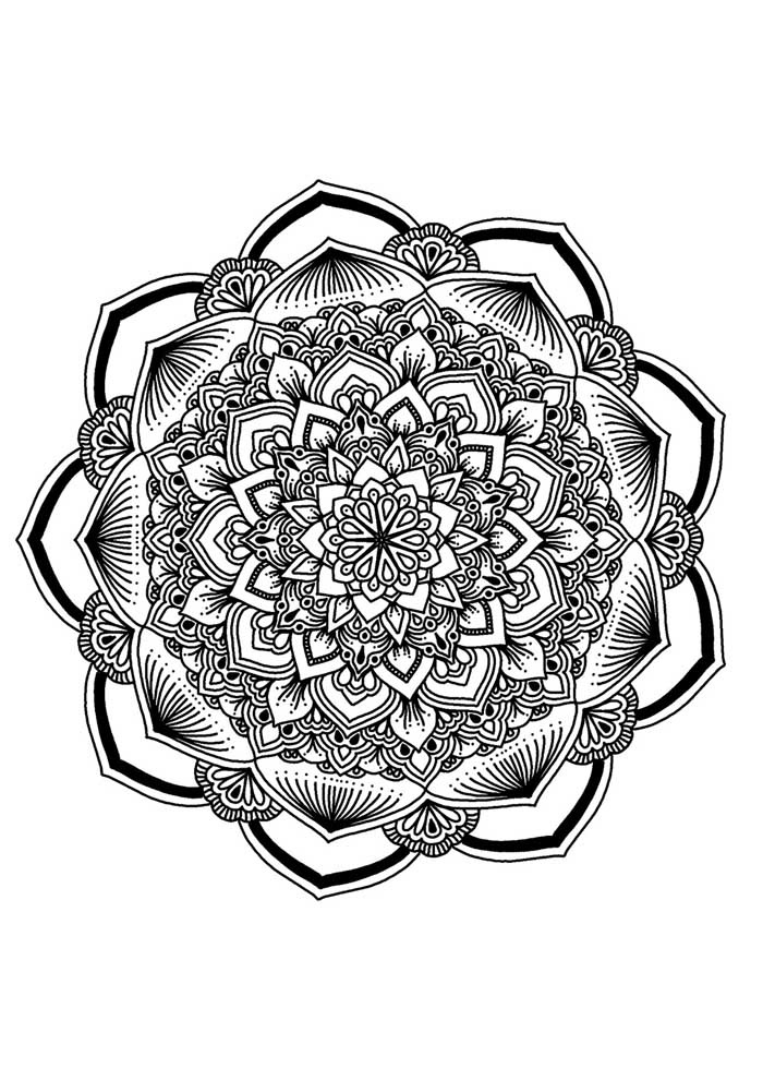 mandala coloring page squares