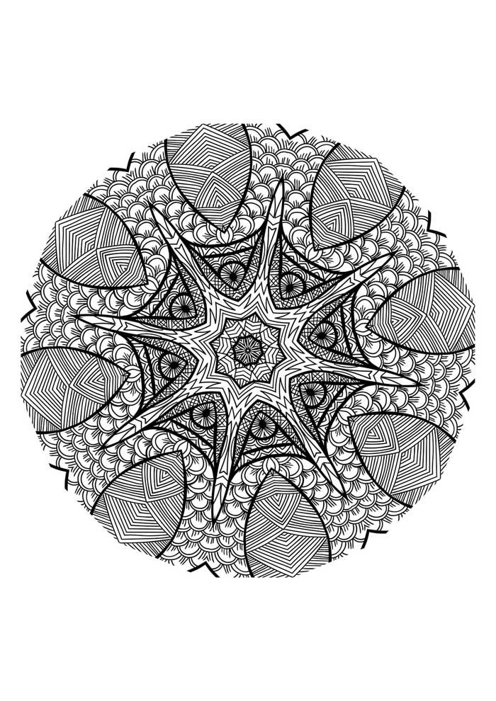 mandala coloring page starfish
