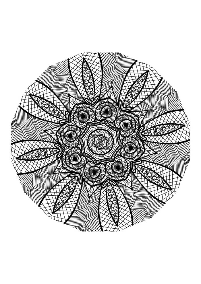 mandala coloring page stress relief