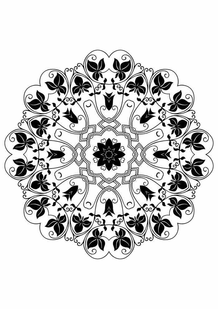 mandala coloring page to print