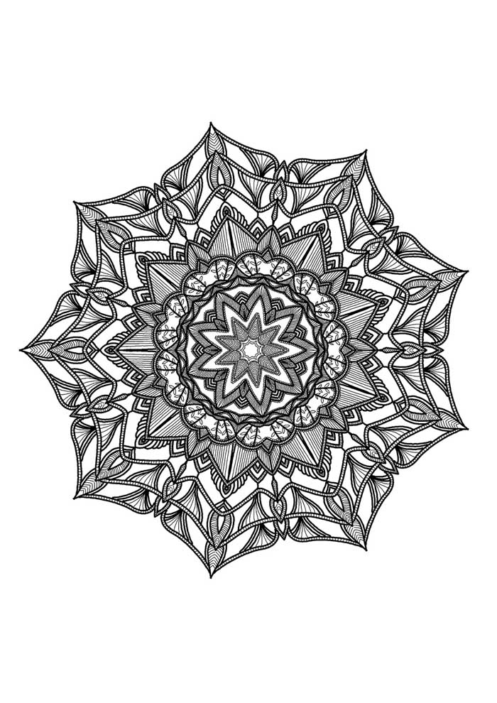 mandala coloring page very detailed