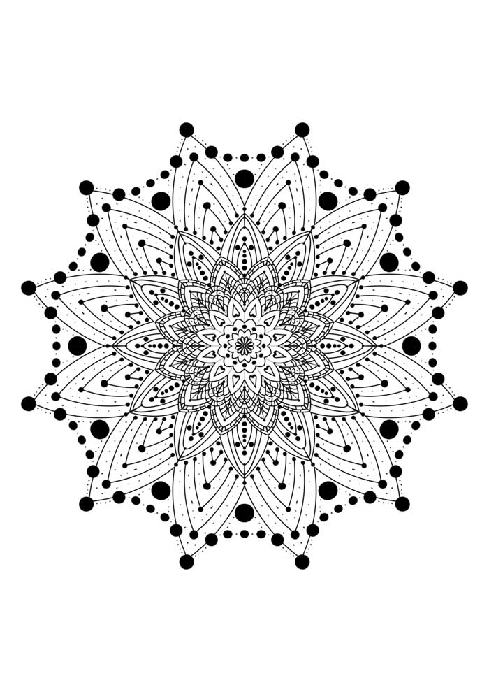 mandala coloring page with star