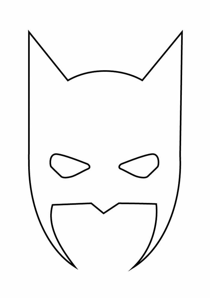 mask batman coloring page