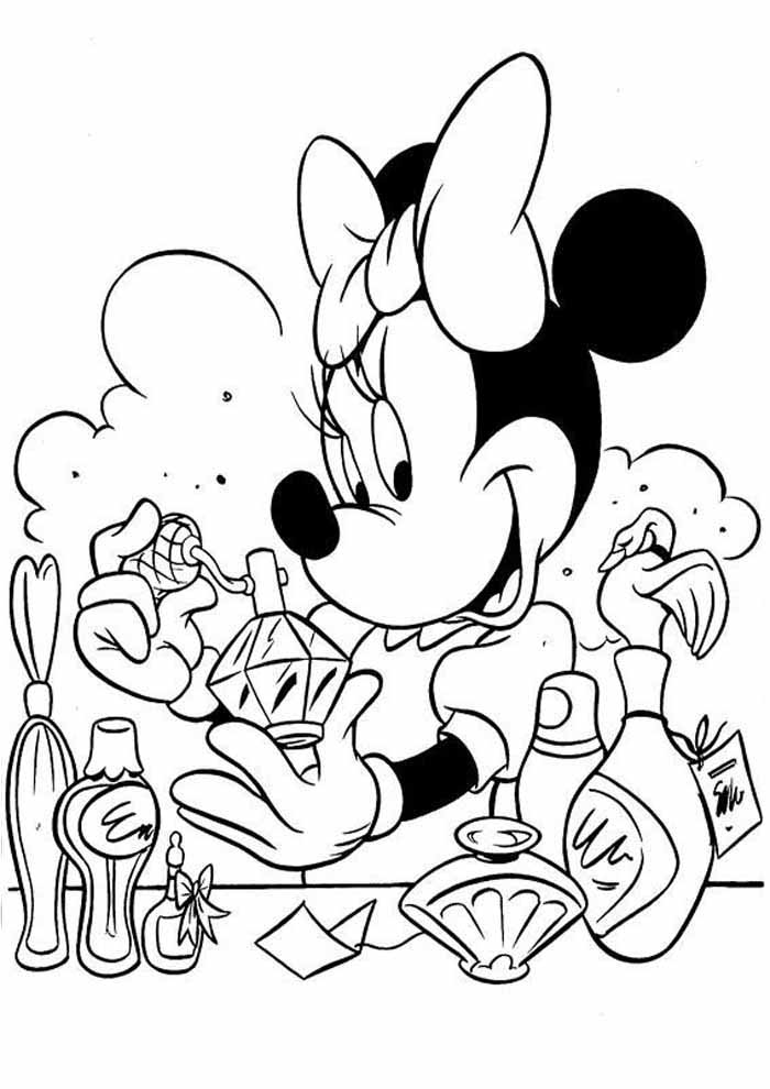 minnie mouse coloring page perfume