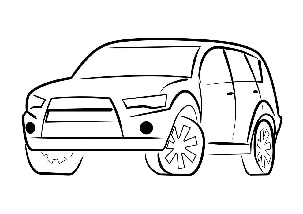 ordinary car coloring page
