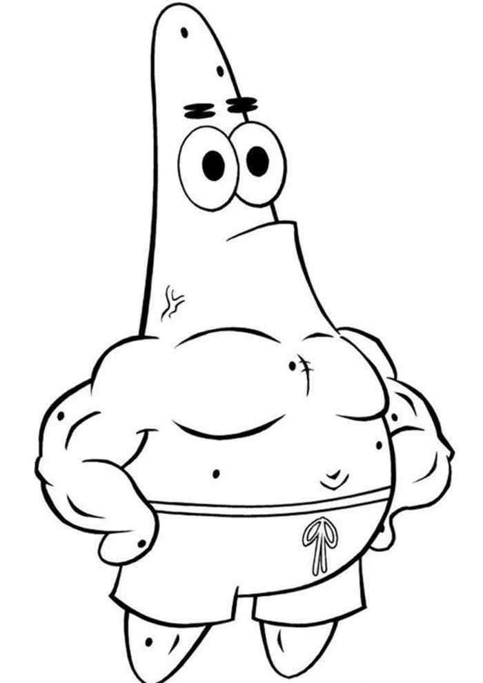 patrick spongebob coloring page