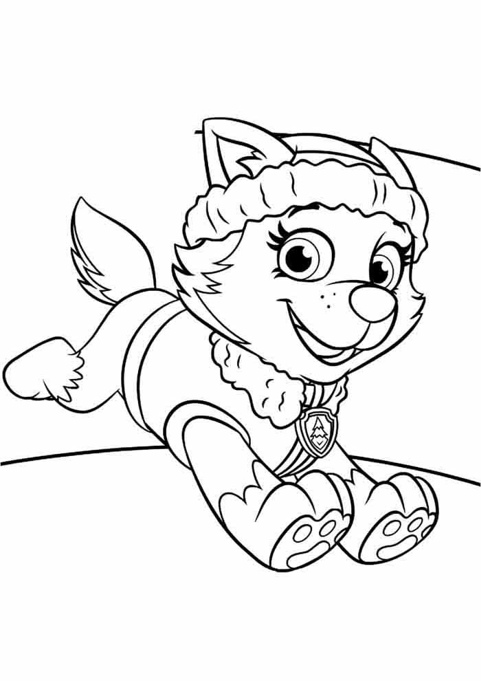 paw patrol coloring page everest