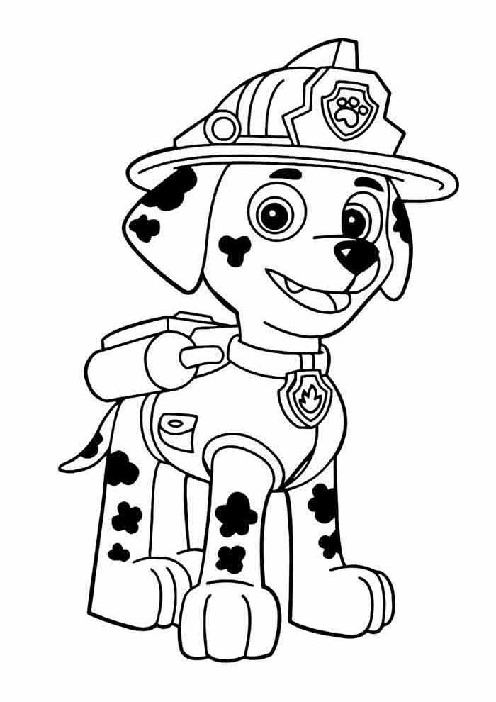paw patrol coloring page marshall alone