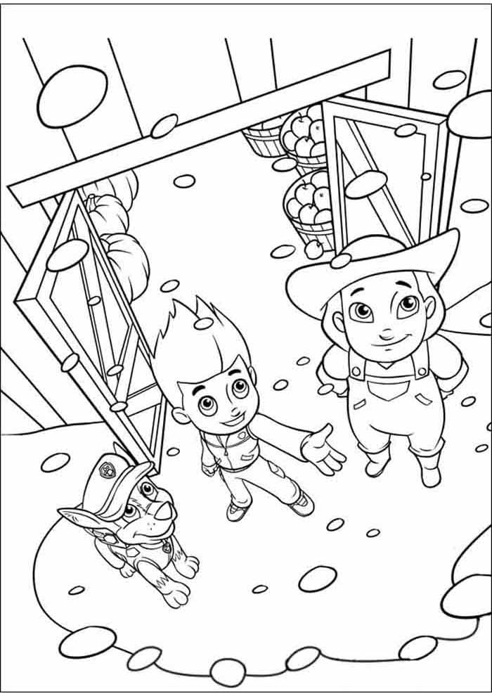 paw patrol coloring page party