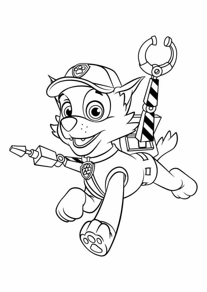 paw patrol coloring page rocky