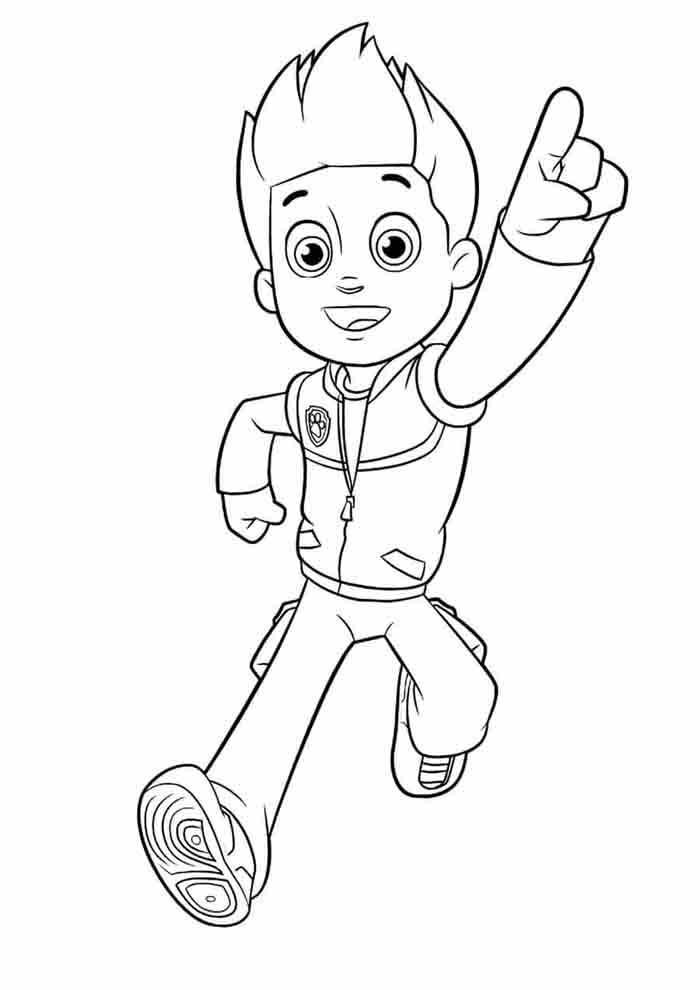 paw patrol coloring page ryder alone