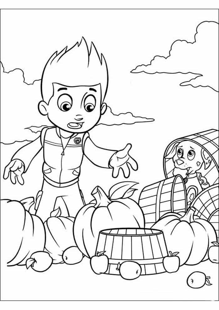 paw patrol coloring page ryder worried