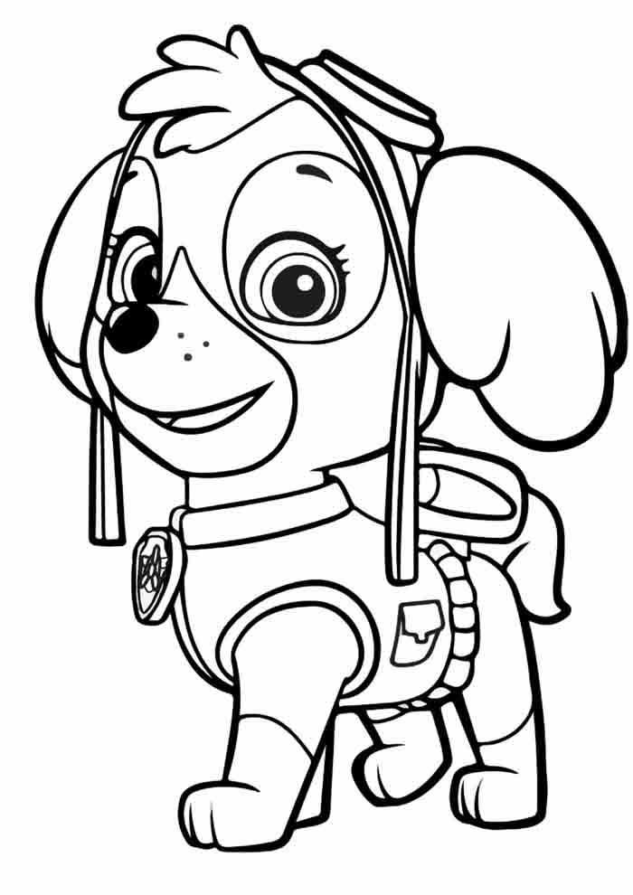 paw patrol coloring page skye
