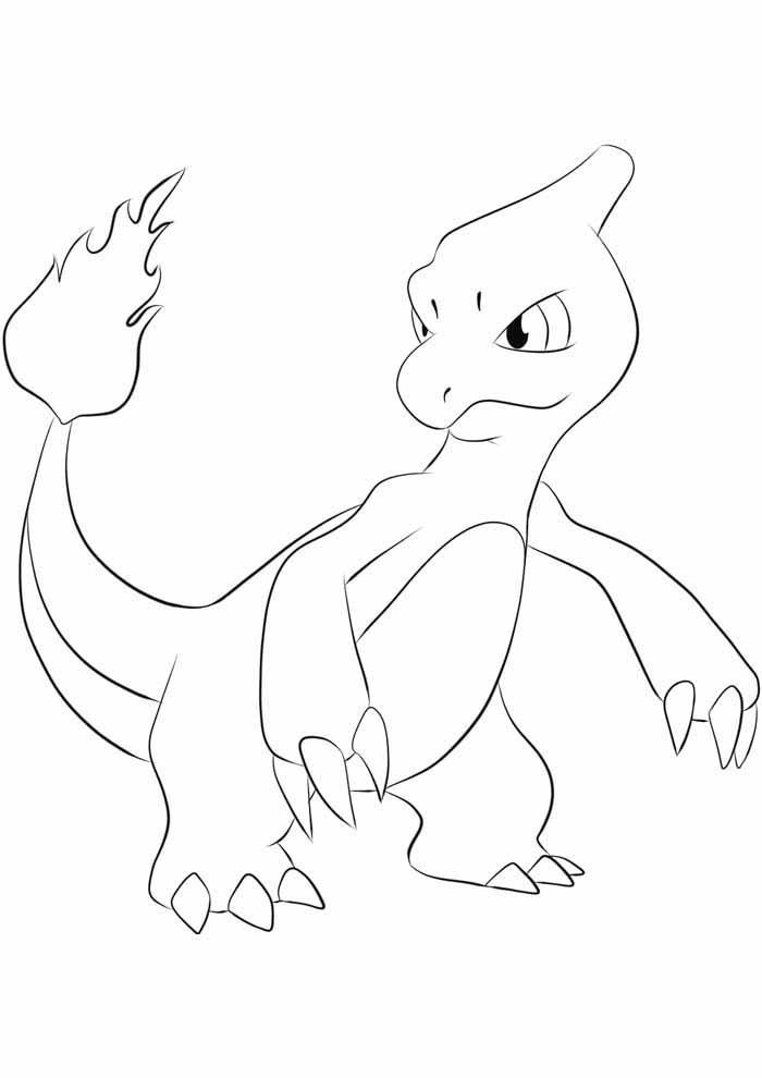 pokemon coloring page charmeleon