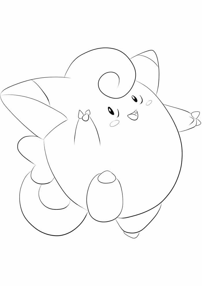 pokemon coloring page clefairy