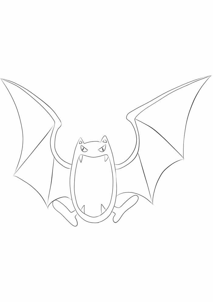 pokemon coloring page golbat
