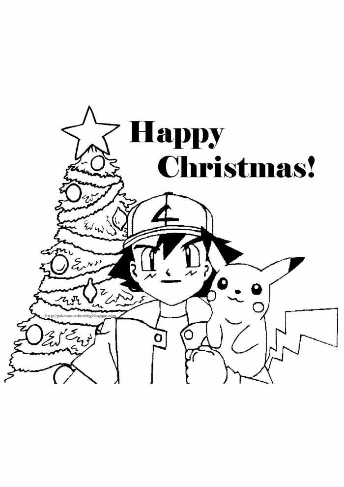 pokemon coloring page pikachu christmas
