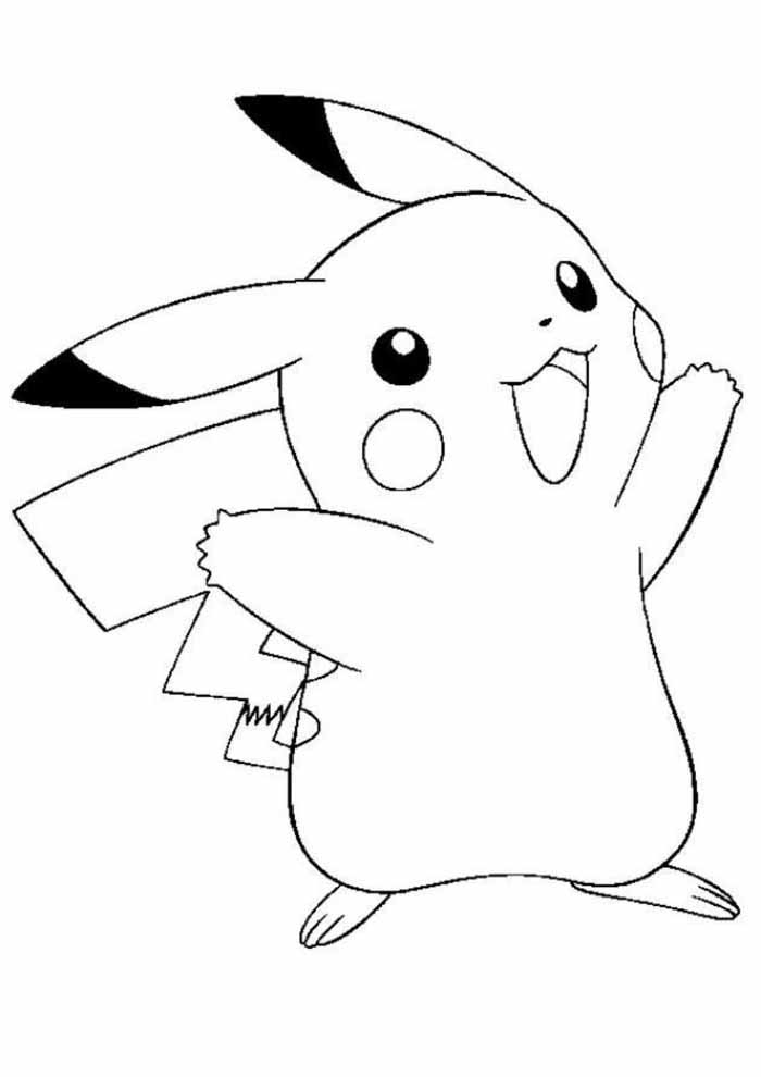 pokémon coloring page pikachu 1
