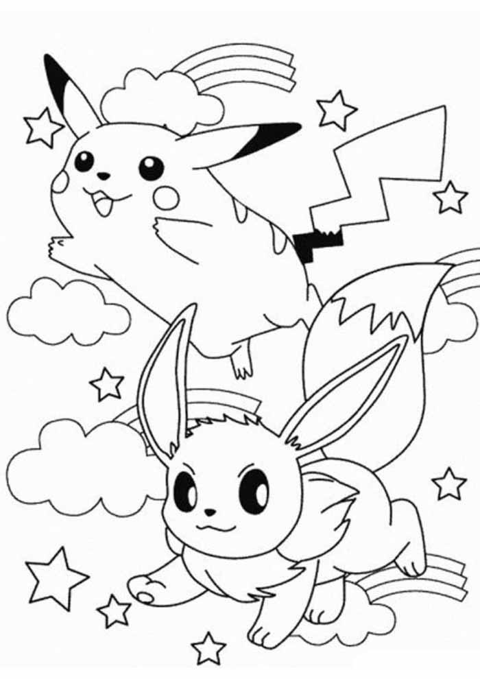 pokémon coloring page pikachu 3